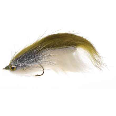 Black's Flies SRA Double Bunny Streamer Fly - Dozen in Olive/Cream - Closeouts