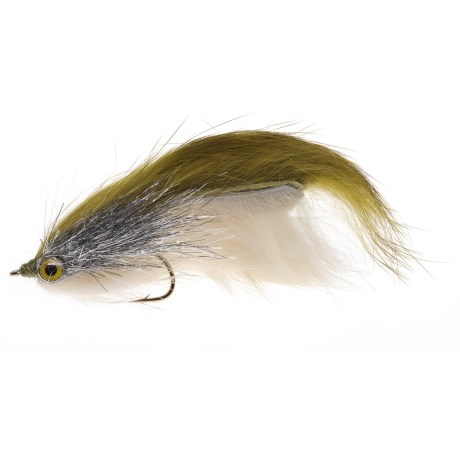 Black's Flies SRA Double Bunny Streamer Fly - Dozen in Olive/Cream