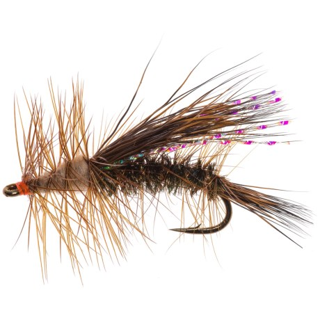 Black's Flies Stimulator Dry Flies - 12 in Chocolate Peacock