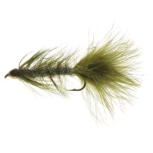 Black's Flies Streamer Cone Head Krystle Bug Fly - Dozen in Olive - Closeouts