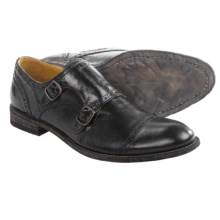 Blackstone Abram Double Monk Strap Shoes - Leather (For Men) in Black - Closeouts
