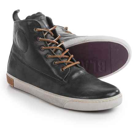 Blackstone AM02 High-Top Sneakers - Leather (For Men) in Black/White - Closeouts