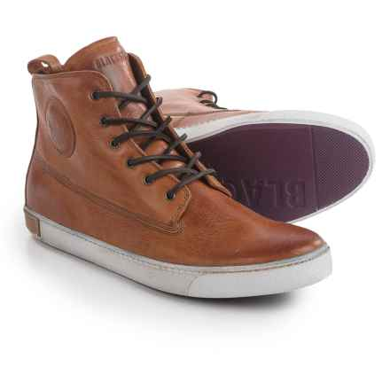 Blackstone AM02 High-Top Sneakers - Leather (For Men) in Brandy - Closeouts