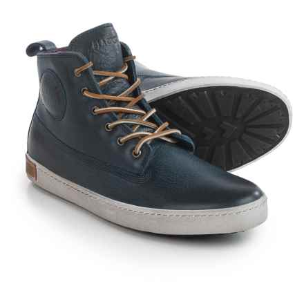 Blackstone AM02 High-Top Sneakers - Leather (For Men) in Indigo - Closeouts