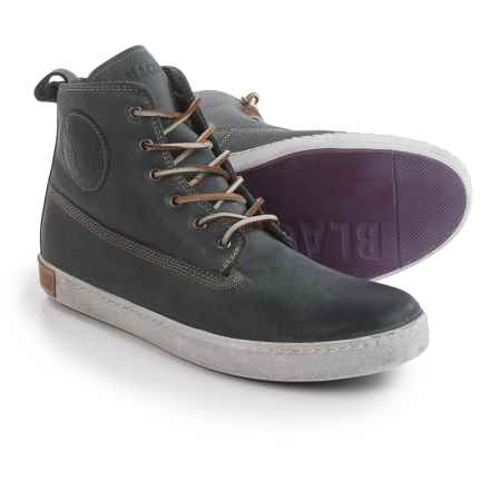 Blackstone AM02 High-Top Sneakers - Leather (For Men) in Petrol - Closeouts