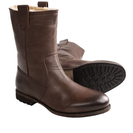 Blackstone AM33 Wellington Boots - Shearling Lined (For Men) in Bark