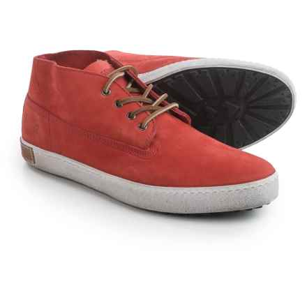 Blackstone BM19 Chukka Boots - Nubuck (For Men) in Red - Closeouts