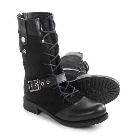 Blackstone CW66 Boots - Leather-Suede (For Women) in Black - Closeouts