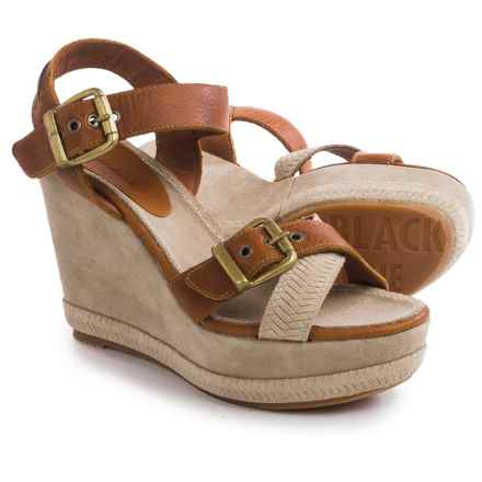 Blackstone DL41 Wedge Sandals - Leather (For Women) in Ember - Closeouts