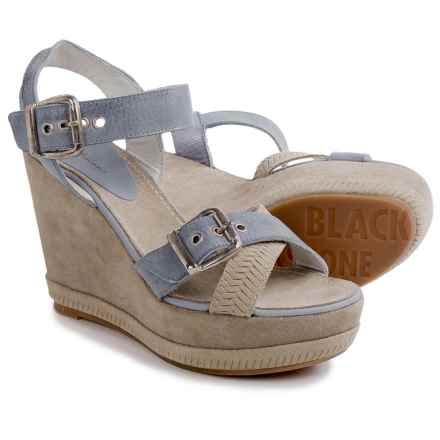 Blackstone DL41 Wedge Sandals - Leather (For Women) in Oceano - Closeouts