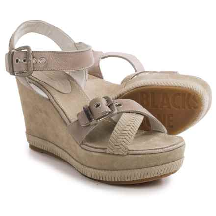 Blackstone DL41 Wedge Sandals - Leather (For Women) in Taupe - Closeouts