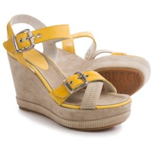 Blackstone DL41 Wedge Sandals - Leather (For Women) in Yellow - Closeouts