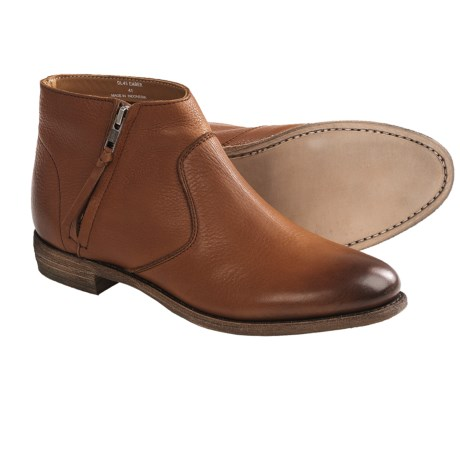 Blackstone DL45 Leather Demi Boots - Side Zip (For Women) in Ember