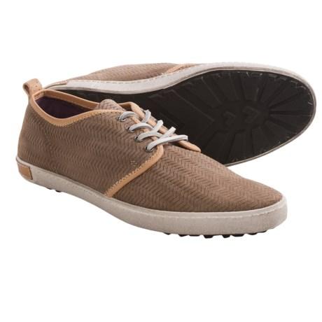 Blackstone DM52 Herringbone Nubuck Sneakers (For Men) in Ebony