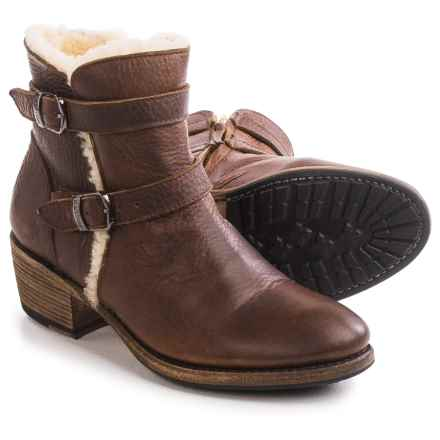 Blackstone EW66 Leather Ankle Boots - Wool Lining (For Women) in Old Yellow - Closeouts