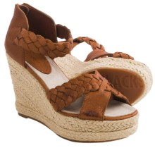 Blackstone FL53 Leather Wedge Sandals (For Women) in Ember - Closeouts