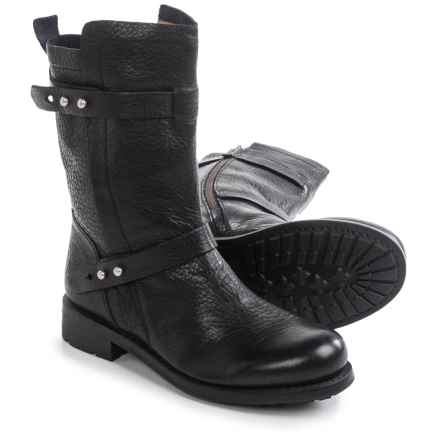 Blackstone GL58 Pull-On Boots - Leather (For Women) in Black - Closeouts