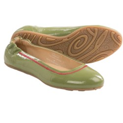 Blackstone KBW10 Ballerina Flats - Patent Leather (For Women) in Caliste Green
