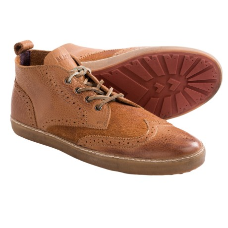 Blackstone M07 Wingtip Sneakers - Leather, Lace-Ups (For Men) in Ember