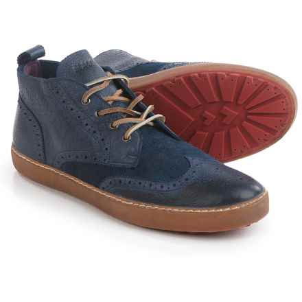 Blackstone M07 Wingtip Sneakers - Leather, Lace-Ups (For Men) in Indigo - Closeouts