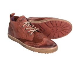 Blackstone M07 Wingtip Sneakers - Leather, Lace-Ups (For Men) in Rust