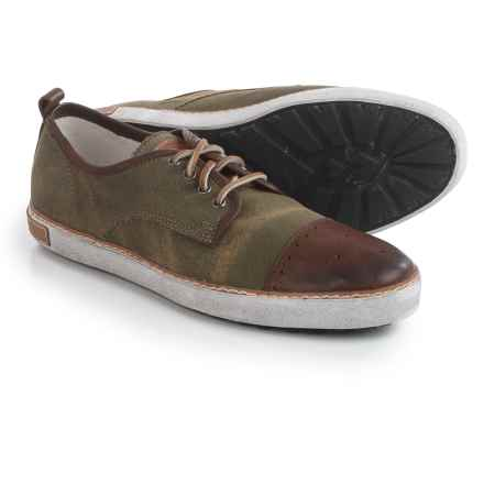 Blackstone M22 Sneakers - Canvas-Leather (For Men) in Dark Green/Bark - Closeouts