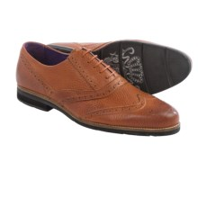 Blackstone SCM002 Wingtip Leather Shoes (For Men) in Ember Pebble - Closeouts