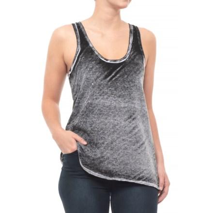 2372b31ff2712 Blanc Noir Mesh Back Sweater Tank Top - Racerback (For Women) in Black -