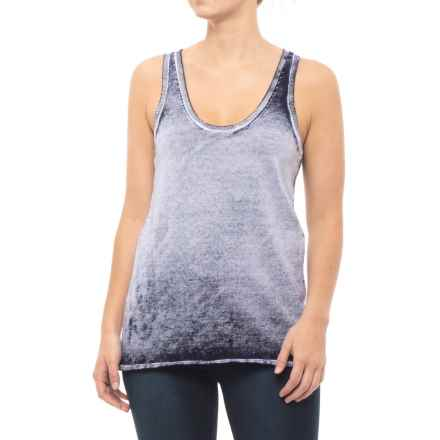 Blanc Noir Mesh Back Sweater Tank Top - Racerback (For Women) in Navy - Closeouts