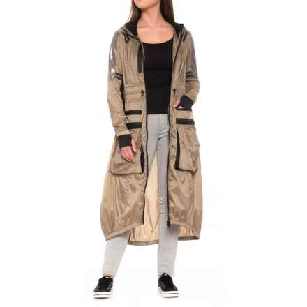Blanc Noir Parachute Anorak Jacket (For Women) in Taupe/Black - Closeouts