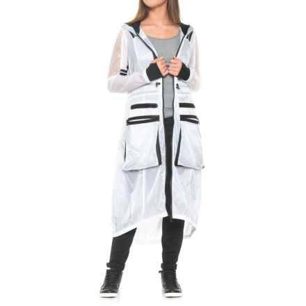 Blanc Noir Parachute Anorak Jacket (For Women) in White/Black - Closeouts