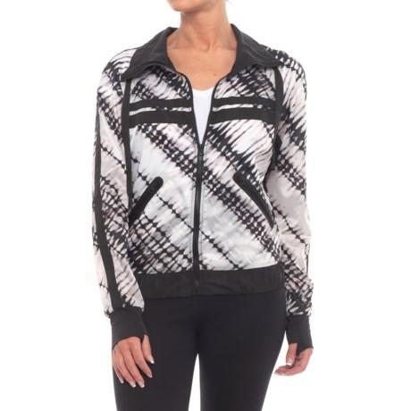 Blanc Noir Posse Windbreaker Jacket (For Women) in Batik/Black