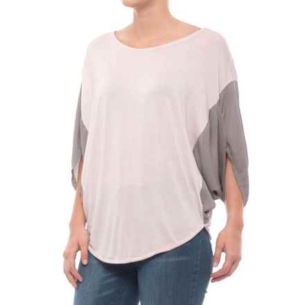 BLANC NOIR Sunset Shirt - 3/4 Sleeve (For Women) in Rose Grey/Grey - Closeouts