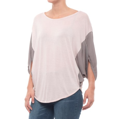 Blanc Noir Sunset Shirt - 3/4 Sleeve (For Women) in Rose Grey/Grey