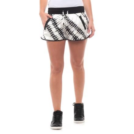 8634b3b0a90 Blanc Noir Venice Silk Lounge Shorts (For Women) in Batik Black - Closeouts