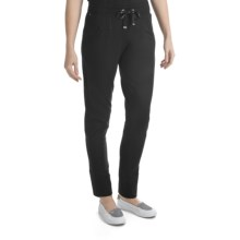 Blanche Fleur French Terry Drawstring Pants (For Women) in Black - Closeouts