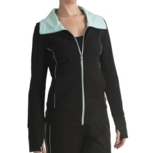 Blanche Fleur French Terry Jacket - Contrast Trim (For Women) in Black - Closeouts