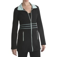 Blanche Fleur French Terry Jacket (For Women) in Black - Closeouts