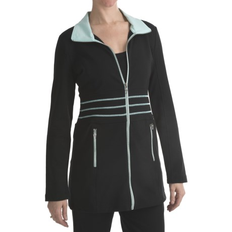 Blanche Fleur French Terry Jacket (For Women) in Black
