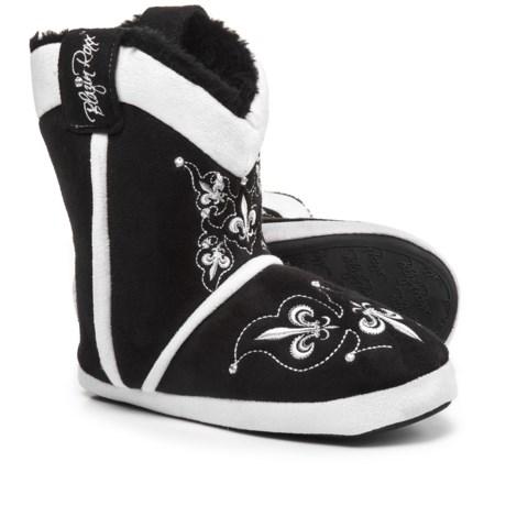 Blazin Roxx Fleur Crystal Bootie Slippers (For Women) in Black