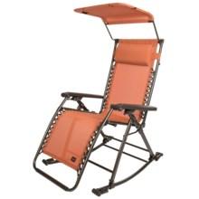 Bliss Hammocks Zero Gravity Patio Lounge Chair Rocker in Terracotta - Closeouts