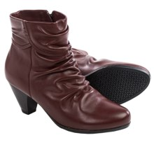 Blondo Diva Leather Ankle Boots (For Women) in Burgundy - Closeouts