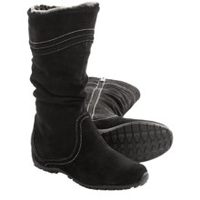 Blondo Madras Snow Boots - Side Zip (For Women) in Black Suede - Closeouts