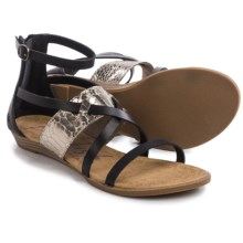 Blowfish Badot Gladiator Sandals (For Women) in Black/Pewter - Closeouts