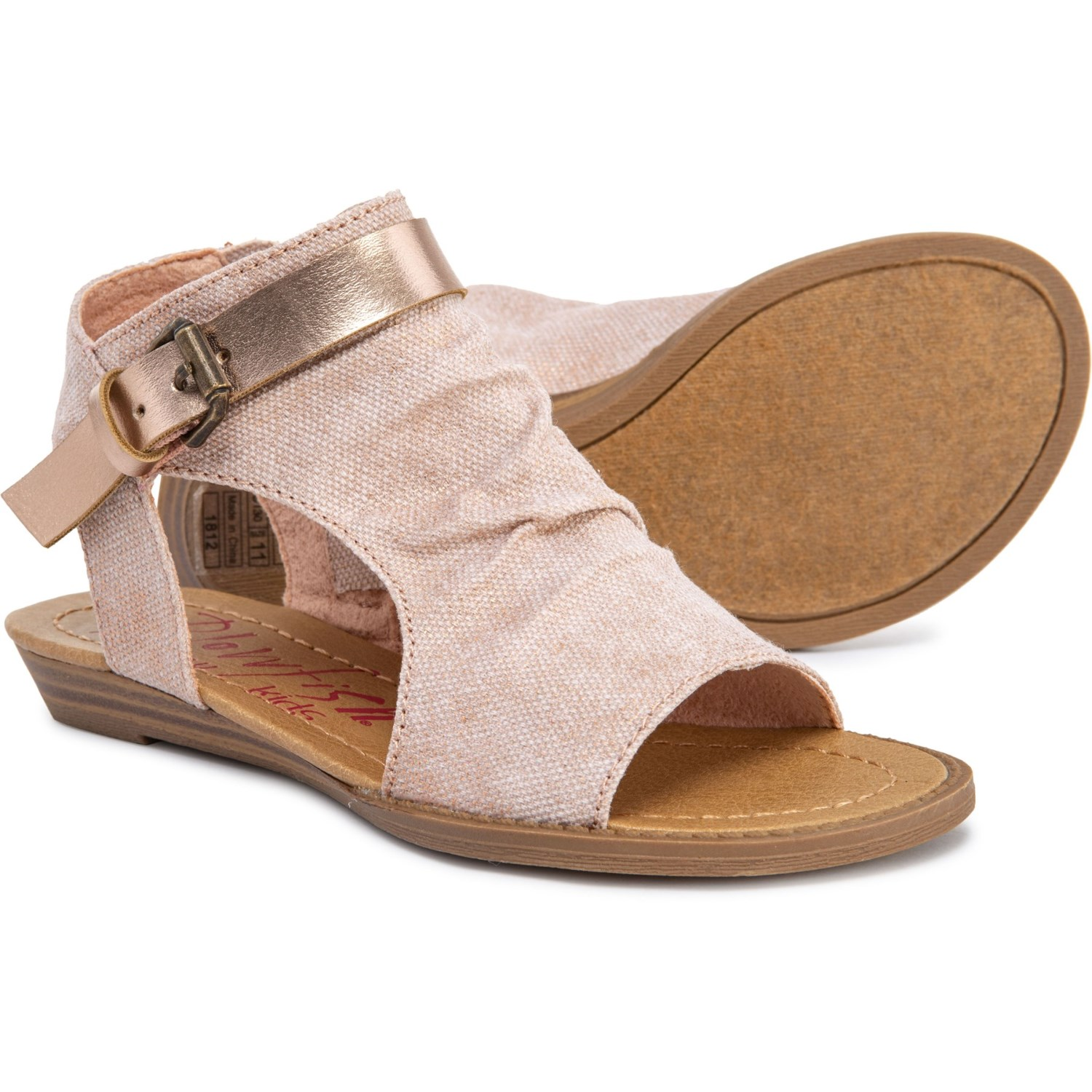 72268a1288b5e Blowfish Barend Sandals (For Girls) in Rose Gold Metallic Gaucho ...