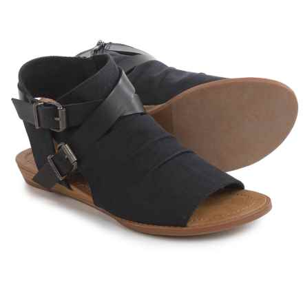 Blowfish Brisa Ranch Sandals - Canvas (For Women) in Solid Black - Closeouts