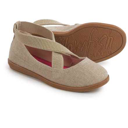 Blowfish Cozumel Linen Ballet Flats (For Little and Big Girls) in Natural Cozumel Linen - Closeouts