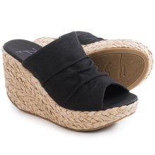 Blowfish Drapey Wedge Sandals (For Women) in Black - Closeouts