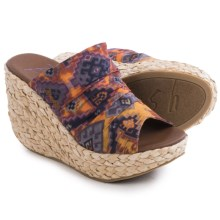 Blowfish Drapey Wedge Sandals (For Women) in Rust Mecca Print - Closeouts