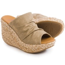Blowfish Drapey Wedge Sandals (For Women) in Sand - Closeouts